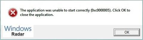 error code 0xc0000005