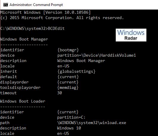Boot Configuration Data