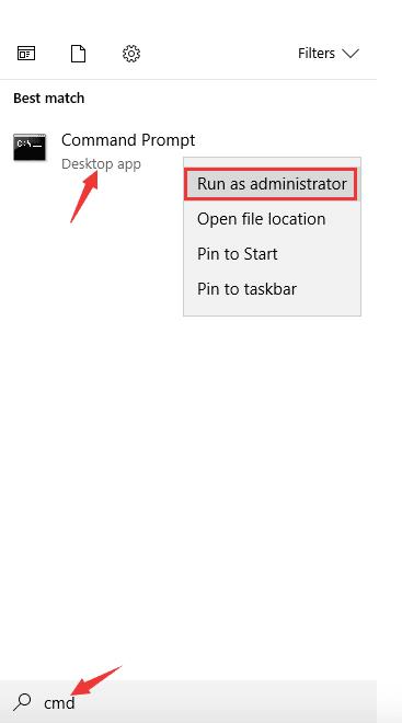 command prompt option