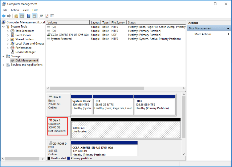 new ssd not showing up