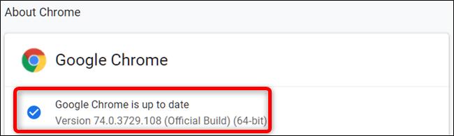 update google chrome