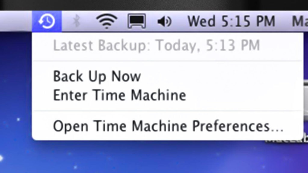 fix Time Machine backup now