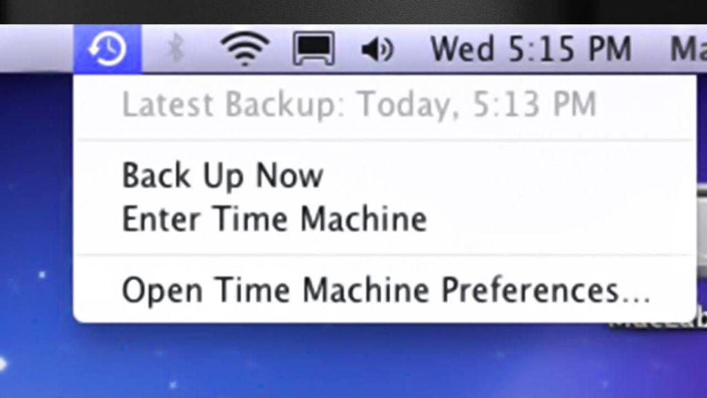 fix Time Machine backup now