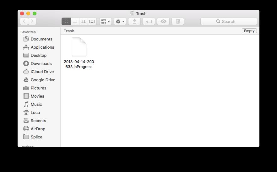 inProgress file