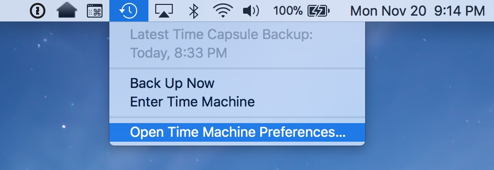time machine stuck on preparing backup