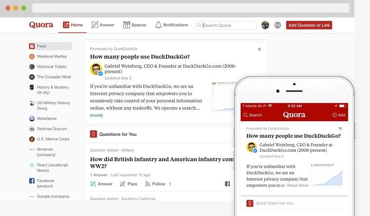 Quora - reddit replacement site