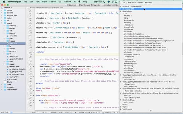 Text Wrangler for mac