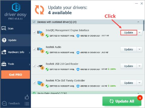 driver easy perform update