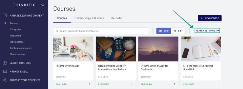 Thinkific - Online course platforms
