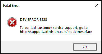 Dev Error 6328