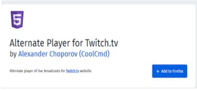 Use any other player for twitch