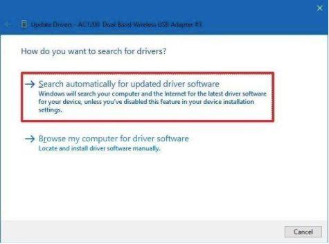 Update Network Adapter Driver