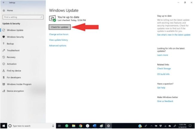 Update the USB drivers In Windows 10