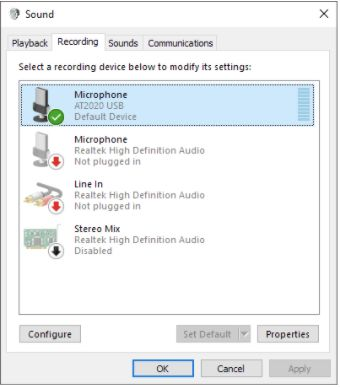 Set Up Microphone In Windows 10
