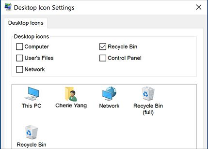 Restore Default Windows 10 Desktop Icons