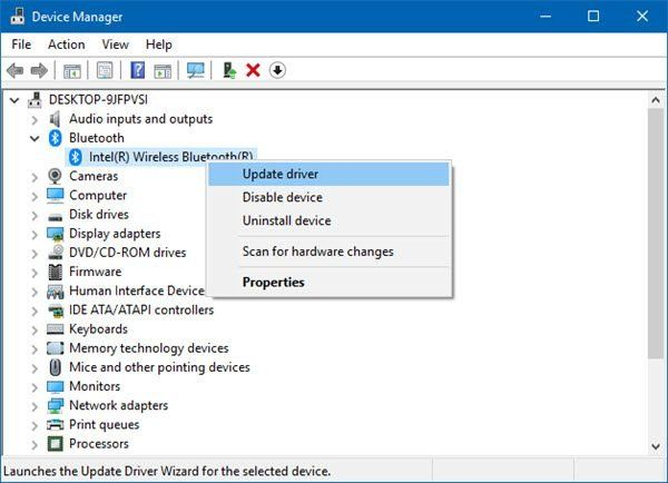 Update Bluetooth on your Windows 10