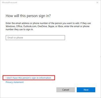 Create User On Windows 10