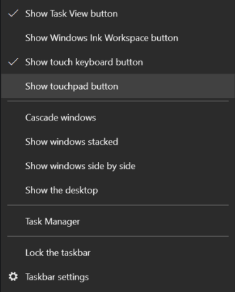 Open The On-Screen Touchpad In Windows 10