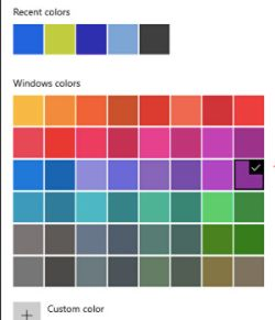 Click on the Custom Color option