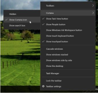 "Talk to Cortana"" Options in Windows 10"