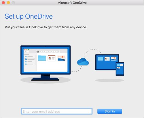 Sign in to your Microsoft account in OneDrive