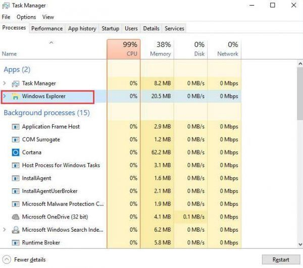 Unable to open the action center in Windows 10