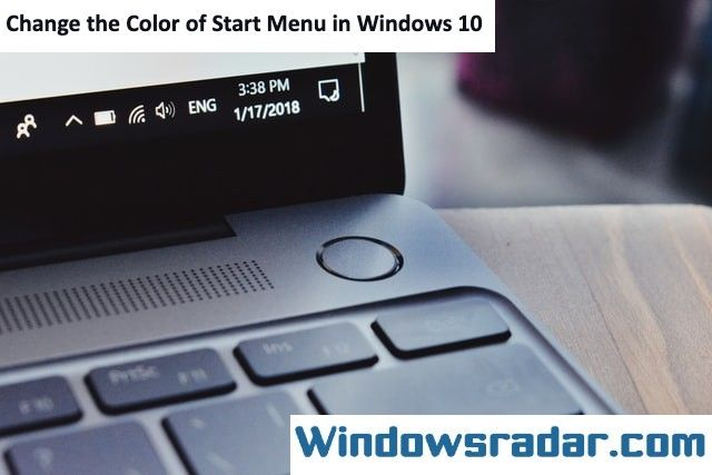 Change the Color of Start Menu in Windows 10