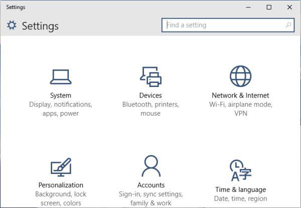 Create an administrator account via PC settings