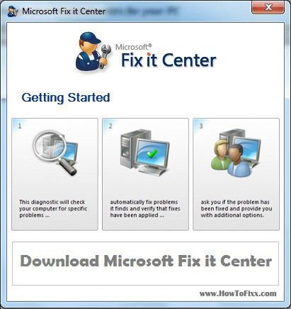 Microsoft Fix it Tool