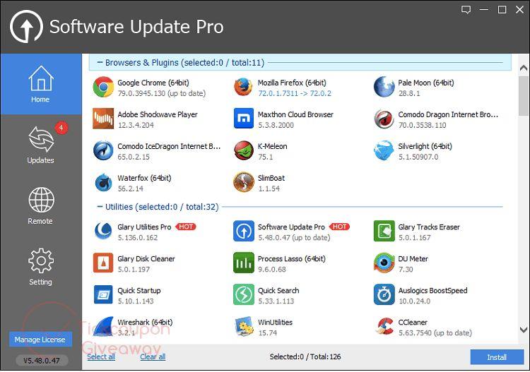Glarysoft's Software Update