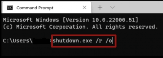 Command Prompt tab