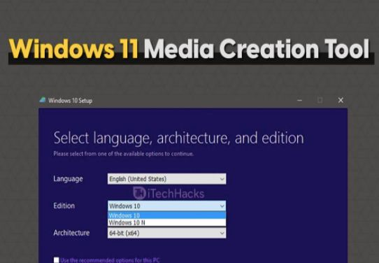 Create installation media for another PC option