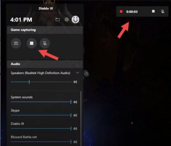 Xbox Game Bar for recording screen