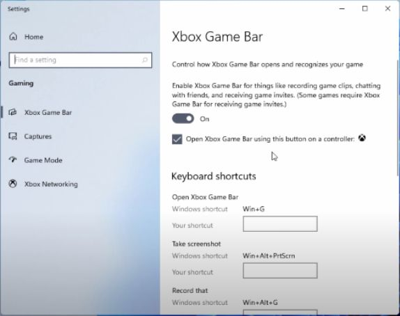 Xbox Game bar to record your screen