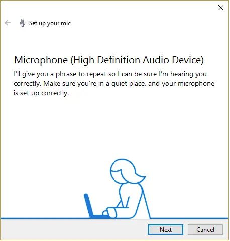 set up your microphone