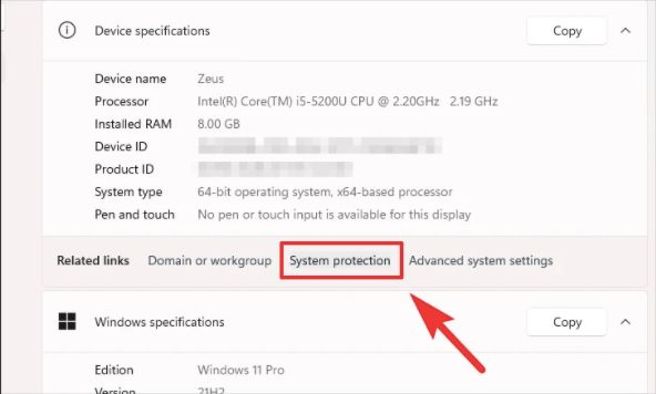 system protection plan