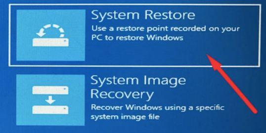 system restores window