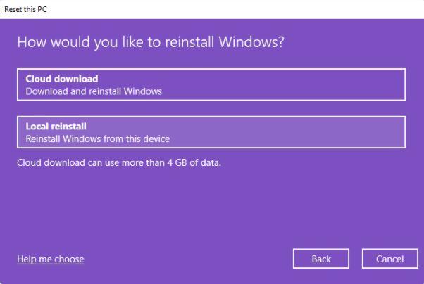 Cloud download option