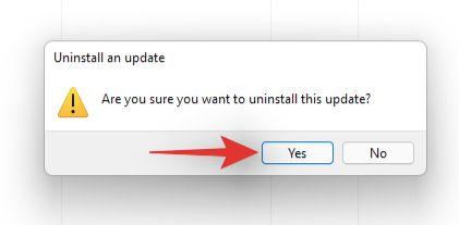 confirm the uninstallation