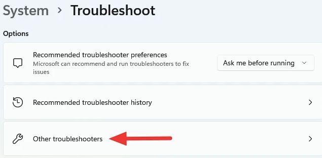other troubleshooters